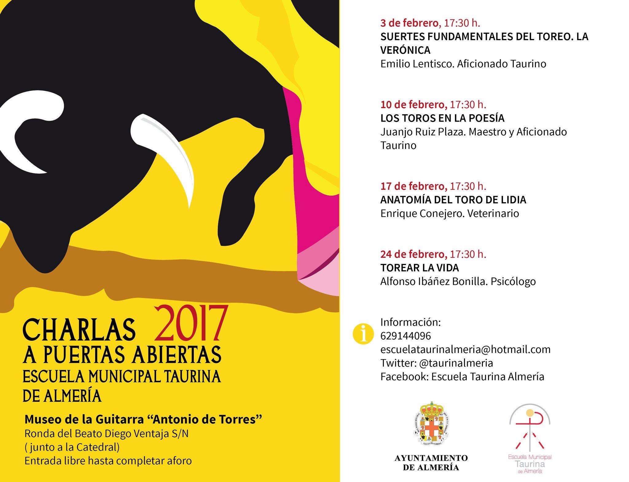 Escuela Taurina de Almería - Charlas Puertas Abiertas 2017